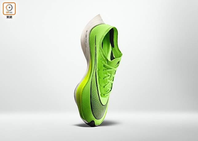 Zoom X Vaporfly NEXT %採用極搶眼的螢光綠色設計。(互聯網)