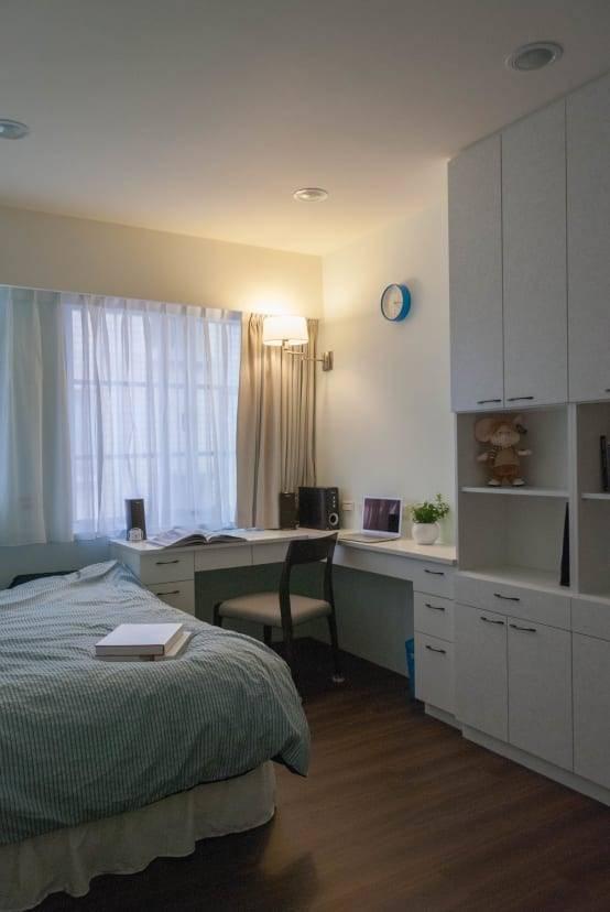含有書房機能的臥室