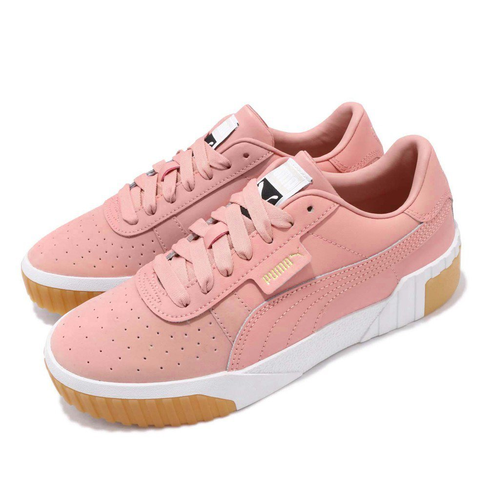 PUMA 休閒鞋 Cali Exotic 低筒 穿搭 女鞋 餅乾鞋 復古 穿搭 簡約 球鞋 粉 白 [36965302]