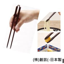感恩使者 餐具 結實筷子 -手工製作 檜木製 E0505 -天然漆塗層 輔助餐具 - 日本製