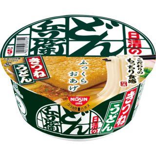 〈日清食品〉どん兵衛 (きつねうどん・天ぷらそば・鴨だしそば・鬼かき揚げ天ぷらうどん) 1コ