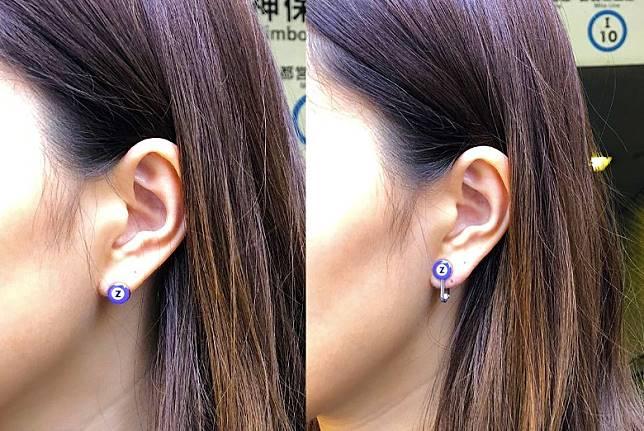 以東京地下鐵9條路線記號設計而成的「東京Metro Accessory」,分別有耳環及夾耳耳環兩款選擇。(互聯網)