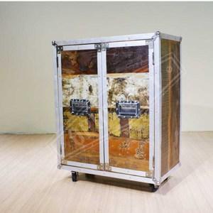 OPUS 樂器箱環保木移動雙層邊櫃/廚櫃【15707】75X41X9575X41X95cm