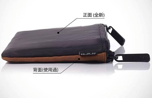 Samsonite從韓國引入的抗菌口罩收納袋,採用抗菌布料製造,經ISO 20743:2013抗菌紡織品測試認證,可達至99.9%抗菌及抑壓細菌增生。。(互聯網)