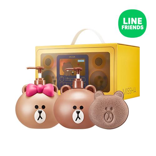missha x line friends 聯名系列 熊大熊美身體乳液/沐浴組 (附沐浴球)