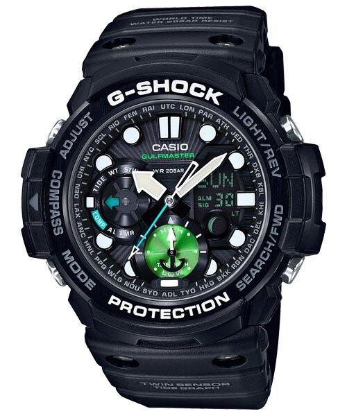CASIO 卡西歐 GN-1000MB-1A G-SHOCK 強悍機能型Master of G 系列錶 黑 53.4mm