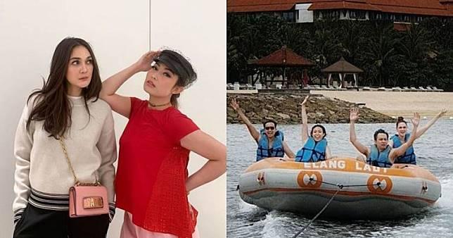 8 Momen liburan Ayu Dewi dan Luna Maya di Bali, seru abis