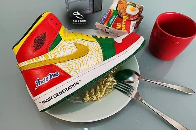 Sneaker custom Nike Air Jordan 1 x Indomie