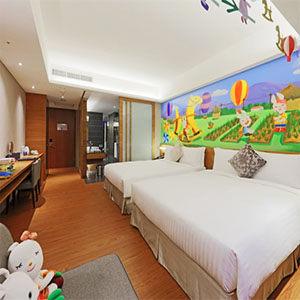 【宜蘭】悅川酒店 - 彩繪親子家庭房 (2大2小) 住宿含四份早餐