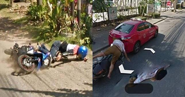 Momen apes terekam Google Street View