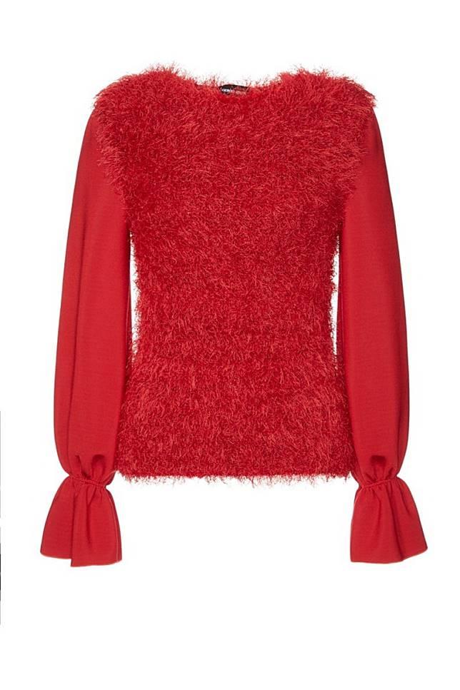 Giorgio Armani紅色毛毛上衣(互聯網)
