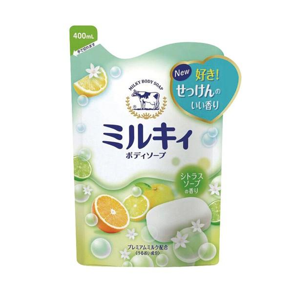 牛乳石鹼沐浴乳-柚香400ml(補)【康是美】