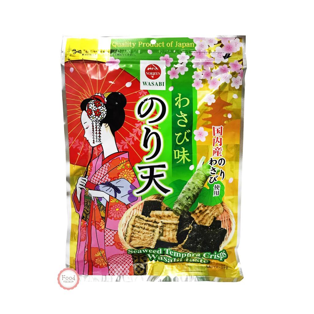 日本 鈴木榮光堂 MARUKA 海苔天婦羅餅 芥末味 125公克 日本進口 零食 餅乾