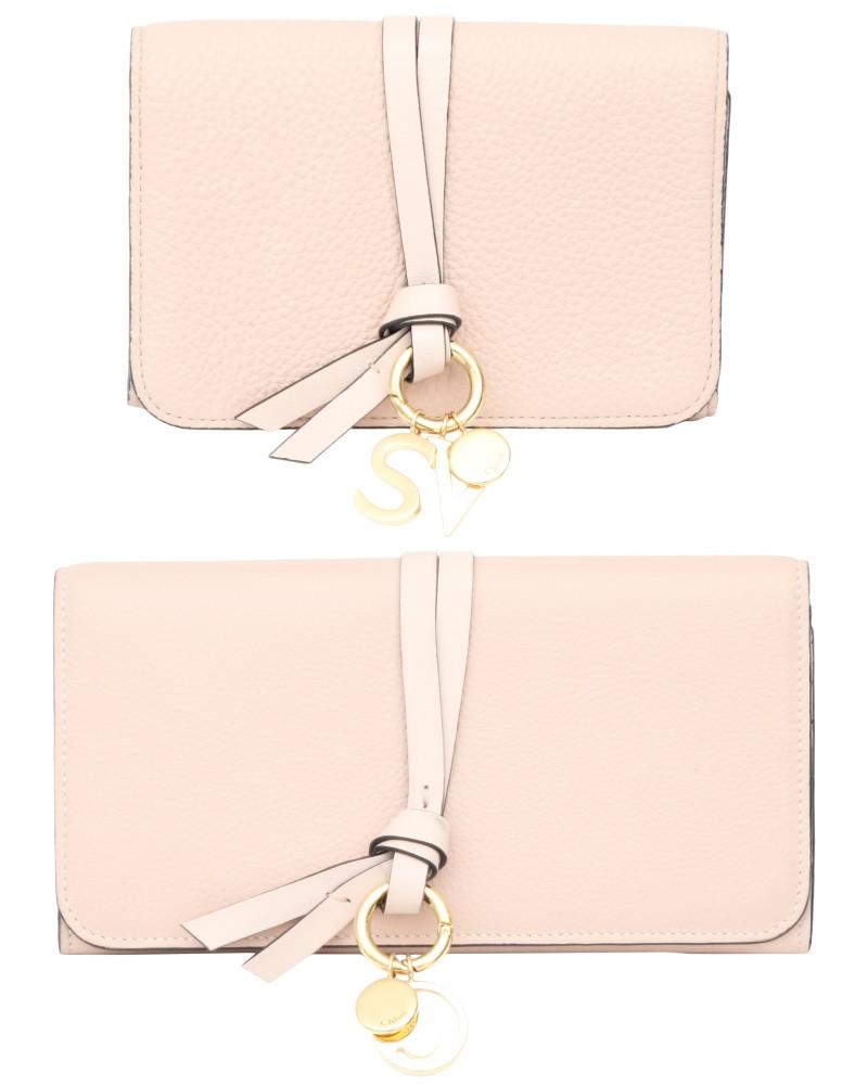 Chloé Alphabet 粉膚色短夾/長夾