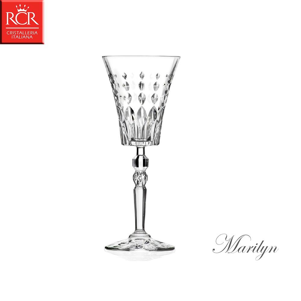 義大利RCR Marilyn 瑪莉蓮系列 水晶甜酒杯 260mL 白酒杯 紅酒杯 水晶玻璃 水晶高腳杯RCR義大利水晶是一個歷史悠久的公司,坐落於維爾塞山口,鄰近弗洛倫薩。 一個世界領先的以水晶和新型
