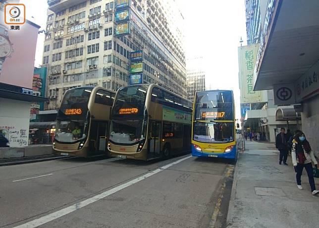 彌敦道交通一度受阻。(曾紹良攝)
