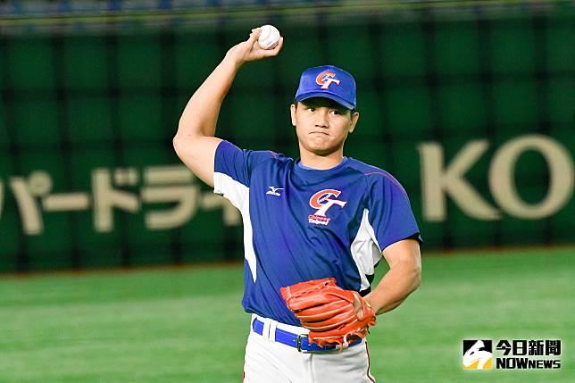 ▲世界棒球12強,中華隊vs.美國隊。中華隊江少慶。(圖