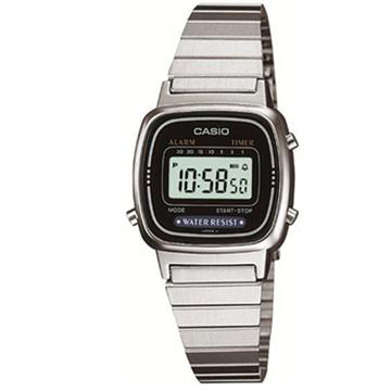 ▲型號:LA-670WD-1▲抗磨損強化玻璃▲防水▲不鏽鋼錶▲自動月曆料號:LA-670WD-1DF