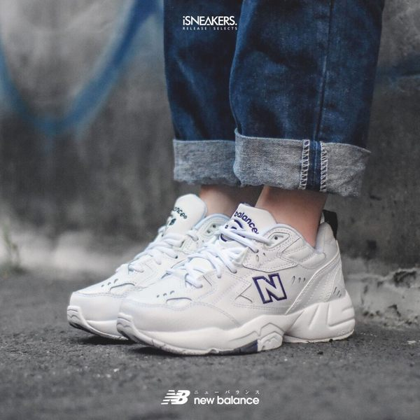 ISNEAKERS New Balance 608 NB 全白 復古 老爹鞋 韓國 IU 代言款 WX608WT