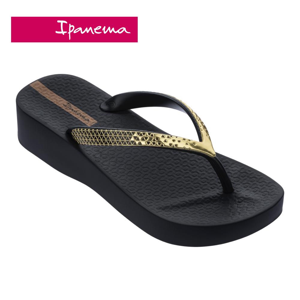 ipanema [women] mesh vi plat金屬光澤厚底夾腳拖鞋-黑(8287220576)