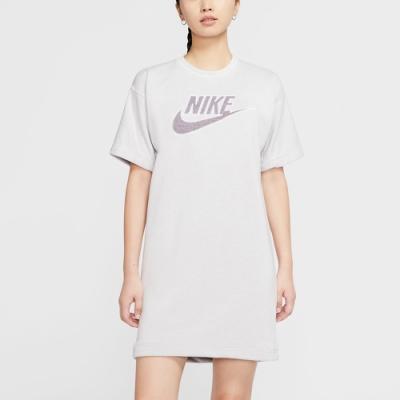 NIKE 洋裝 長版 運動連身裙 女 灰 CU6402094 AS W NSW DRESS FT M2Z
