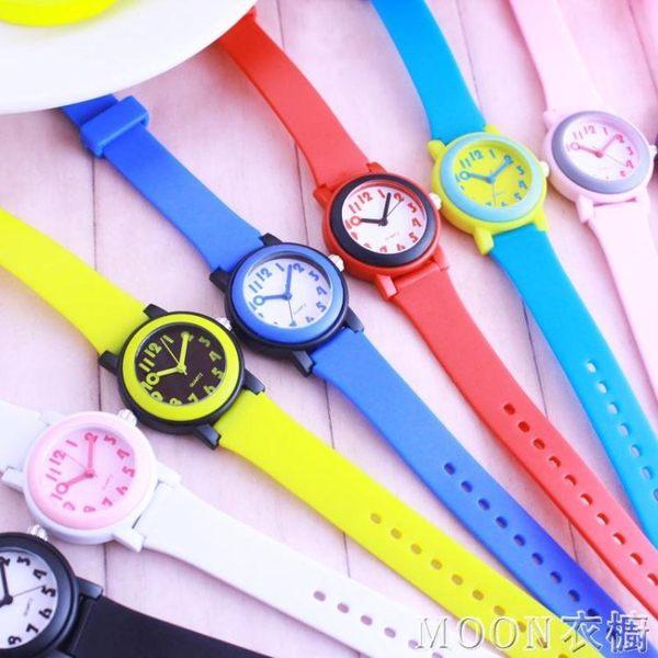 韓版撞色兒童手表 小學生男女孩指針式石英腕表 運動防水休閑潮表 優尚良品