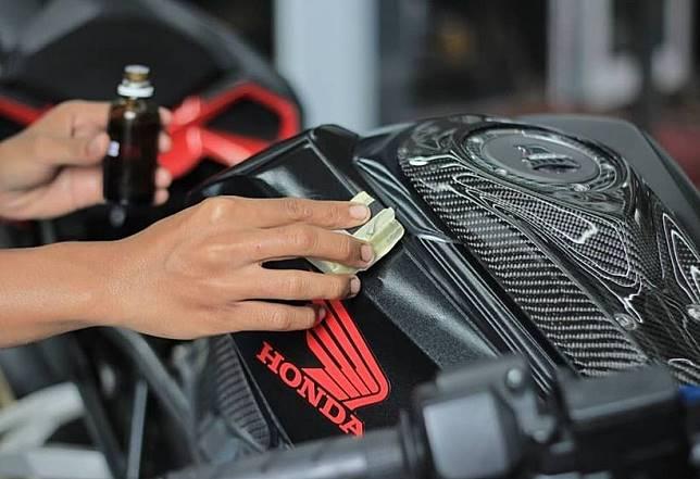 Ilustrasi coating bodi motor