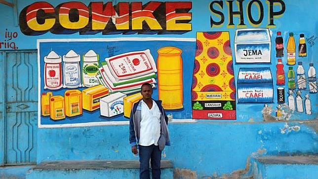 ™ Begini Tampilan Unik Toko di Somalia Perkenalkan Produknya Tak Perlu Banner atau Poster,