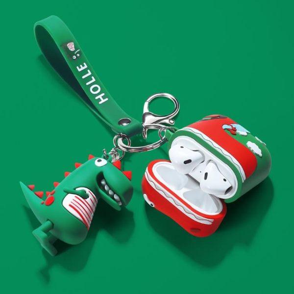 airpods保護套恐龍蘋果無線藍牙耳機套airpods2代保護殼潮ipod可愛airpod充電盒子