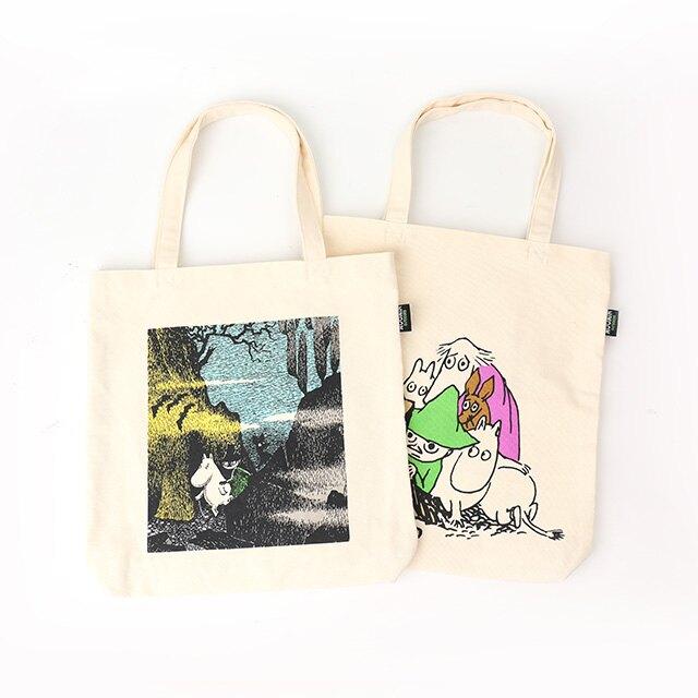 日貨Moomin Outdoors托特帆布包- Norns 日本進口 姆米谷彗星來襲帆布手提袋 嚕嚕米手提包