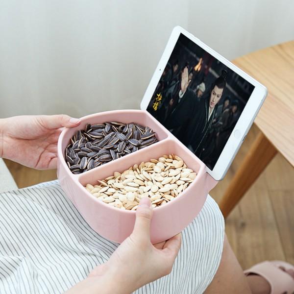 [現貨]追劇必備 可放手機小瓢蟲水果盤 零食盤 手機支架【JH1249】《Jami Honey》