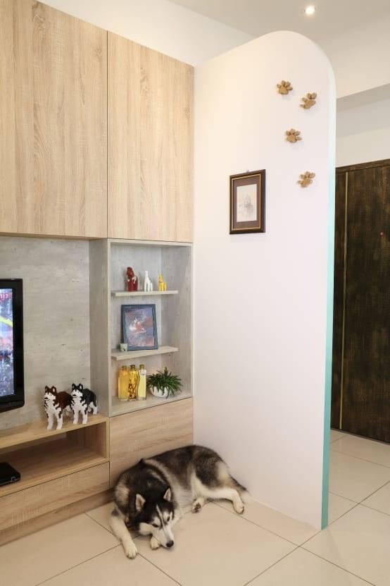 玄關裝潢實例二:簡約空間適度留白