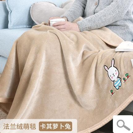 【免運】小毛毯被子夏天珊瑚絨加厚冬季蓋腿單人空調毯子薄款午睡蓋毯夏季