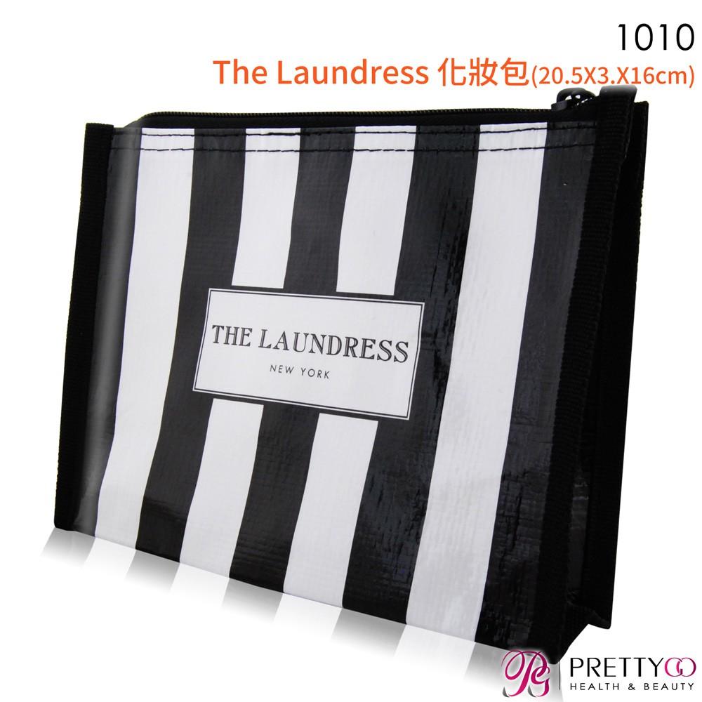 【商品特色】 ◆公司貨 ◆黑與白的簡潔線條配色 ◆多用途收納包 ◆出門好攜帶 【商品規格】 品牌:The Laundress 商品名稱:1010 The Laundress 化妝包(20.5X3.X1