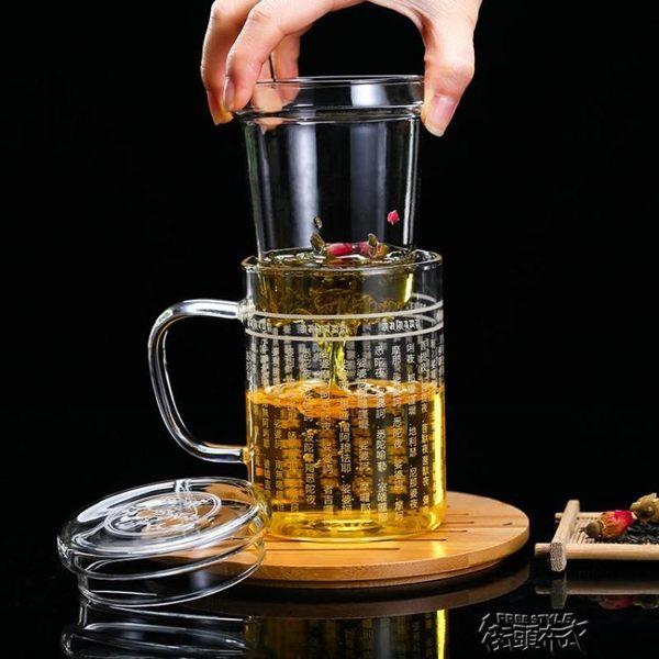 正品水知道答案大悲咒水晶杯辦公玻璃杯佛經經文緣養生茶飲花茶杯