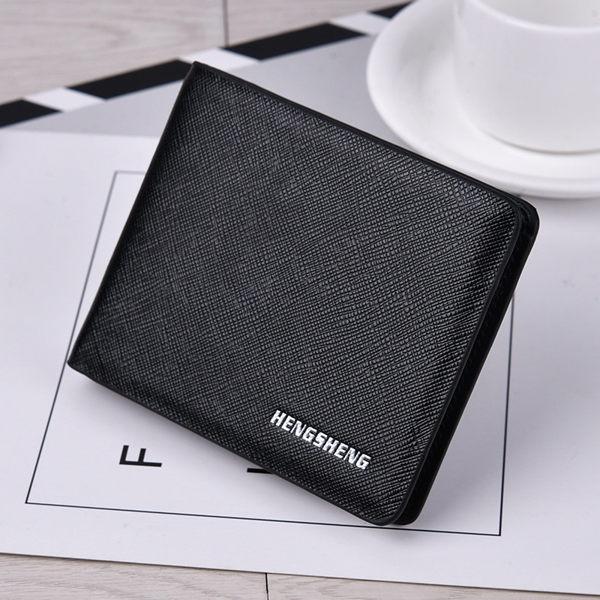 男士錢包2018新款 男生錢包 型男錢包 錢包短款超薄簡約日 青年潮軟皮夾 大鈔橫款錢夾潮