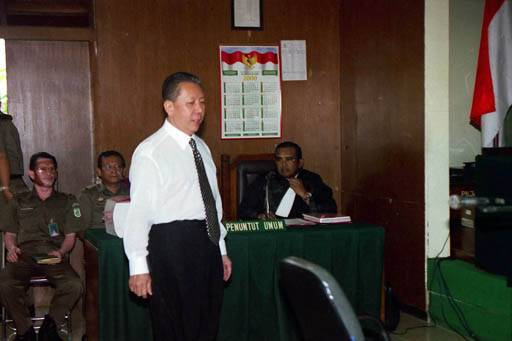 Graft convict Djoko Tjandra stands trial for his involvement in the Bank Bali graft case. He was convicted of misusing Bank Indonesia Liquidity Support (BLBI) funds in the case.