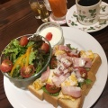 日替わりモーニング - 実際訪問したユーザーが直接撮影して投稿した西新宿カフェカフェ・アマティ新宿ルミネ1店の写真のメニュー情報