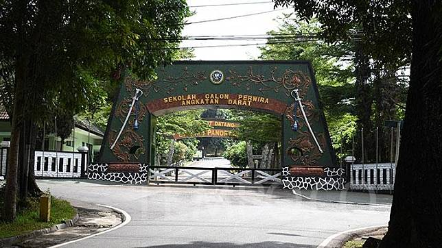 The main entrance of the Army's Officer Candidate School (Secapa) in Hegarmanah, Bandung, Thursday, July 9, 2020.
