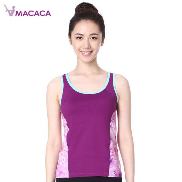 【MACACA】-2綻放背心 - AYG1141(紫) (瑜伽/韻律/休閒)