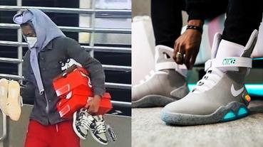 無法無天!誇張鞋迷趁亂搶 Nike Air Mag 拍賣還標記「知名鞋店帶走的」,網友:真是顛覆我三觀啊⋯