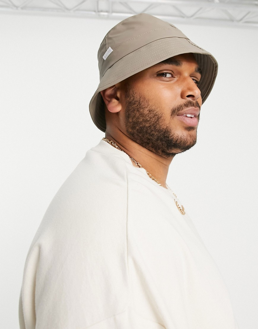 Rains 2001 bucket hat in taupe-Brown