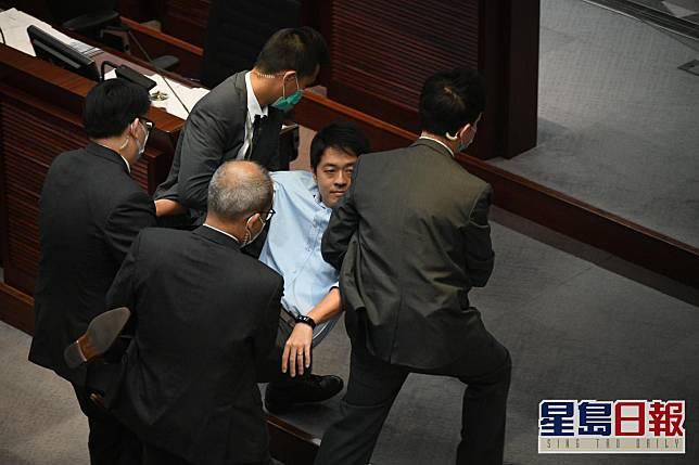 林鄭月娥批評議員當日在會上的搗亂言行令人慘不忍睹。資料圖片