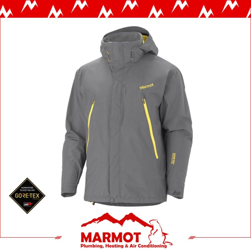 【MARMOT 男 Cervino TR GORE-TEX兩件式外套《煤灰》】30140/保暖外套/羽絨外套/防水/防風