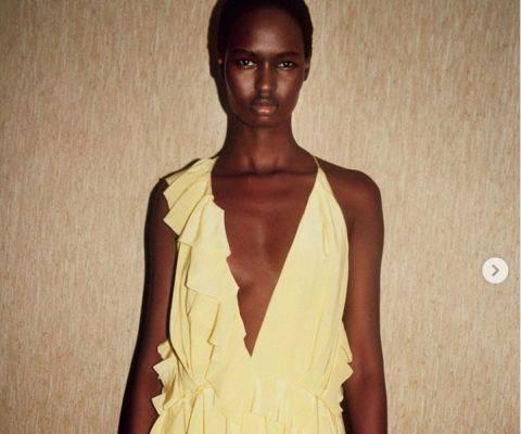 Gaun yang dikenakan Nicola Peltz