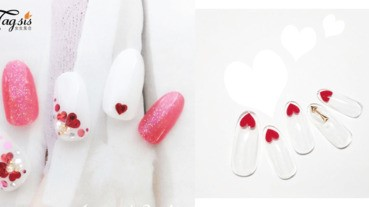 大浪漫主義風!情人節限定的可愛「白色指甲」,為情人送上一個甜蜜濃濃的愛心〜