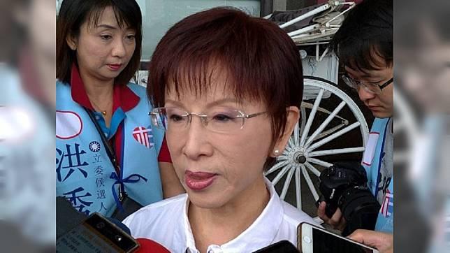 洪秀柱痛批蔡英文是「假數字總統」。圖/TVBS