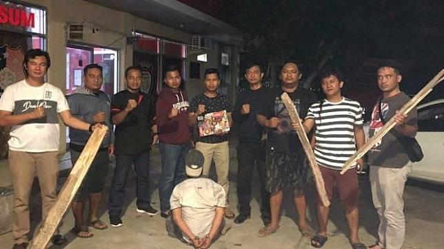 Satu pelaku begal di ruas Jalan Tol Trans Sumatera Terbanggi Besar - Kayu Agung ditangkap.