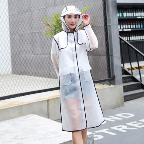 韓版高質感時尚防風環保無毒EVA雨衣