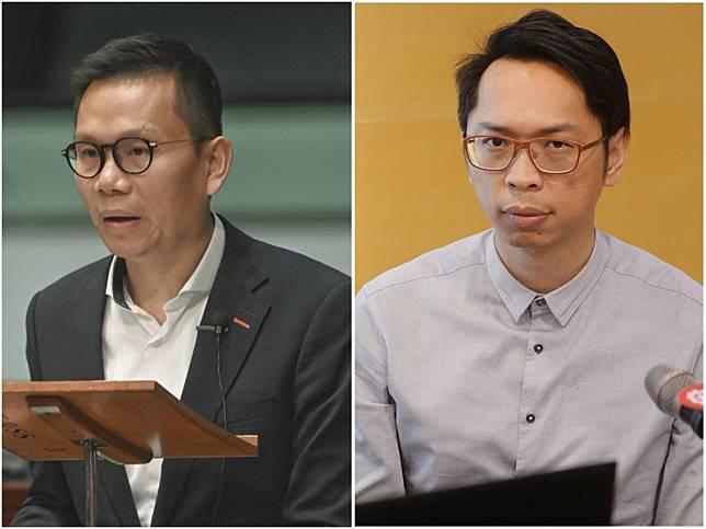 陳恒鑌(左);陸頌雄(右)關注事故。資料圖片